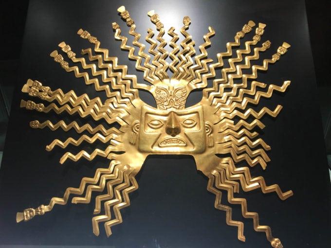 Pre-Colombian gold sun mask