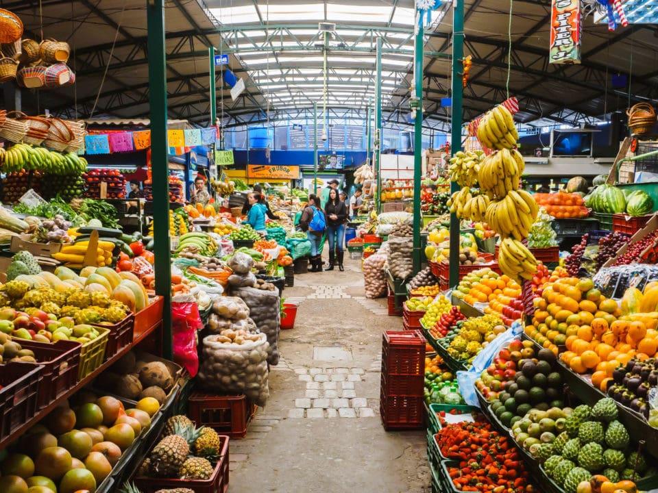 Huge fruit market