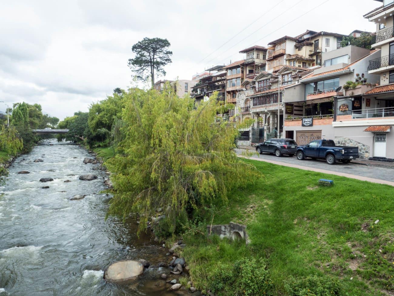 Tomebamba River running through Cuenca