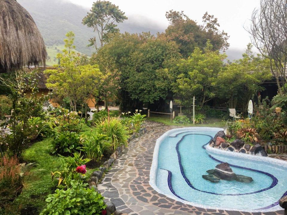 Hot-spring pool in Papallacta