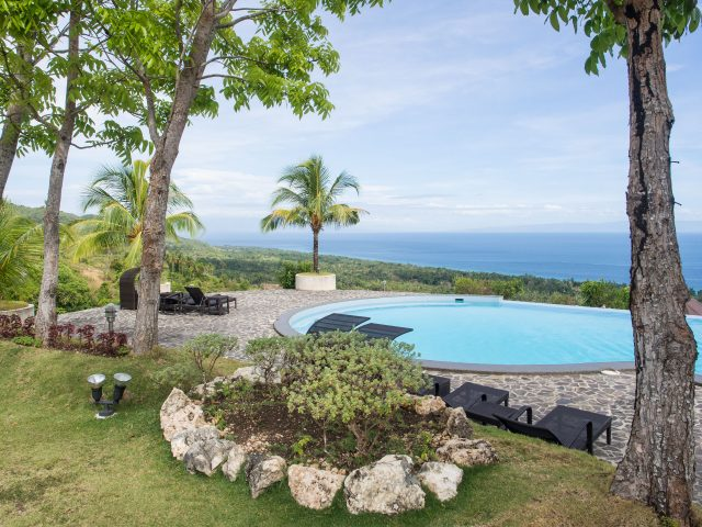 Pool and grounds of Infinity Heights resort on Siquijor Island
