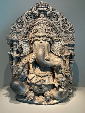 A statue of the Hindu god Ganesha from the 1200s in the Asian Art Museum