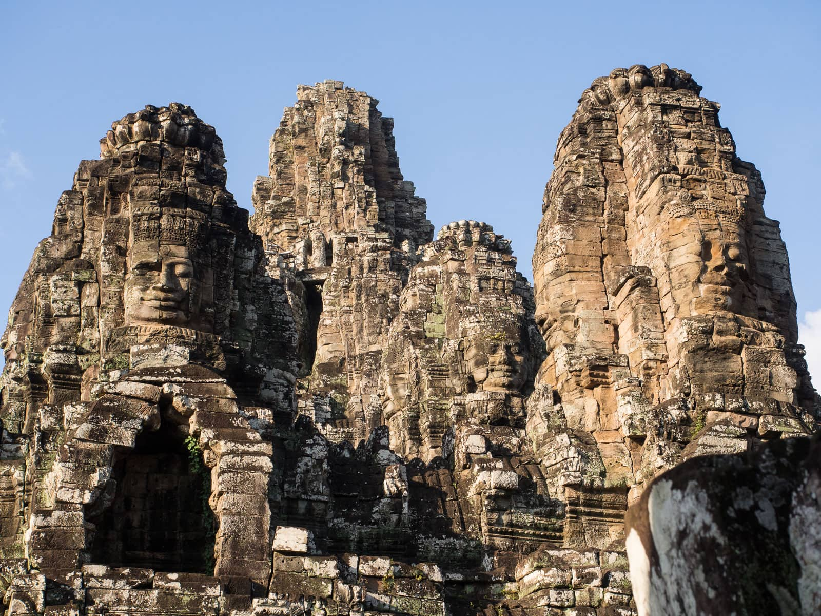 Bayon temple with many peaks