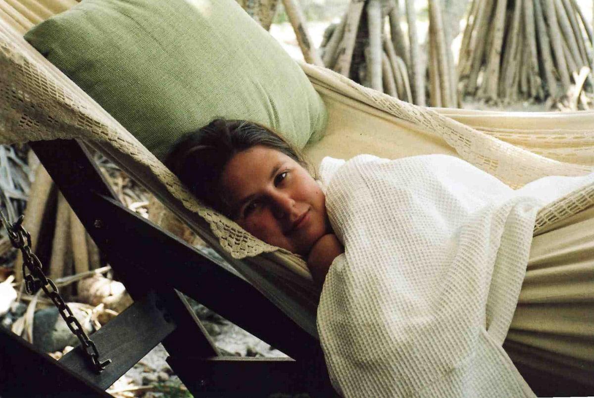 Melissa in hammock