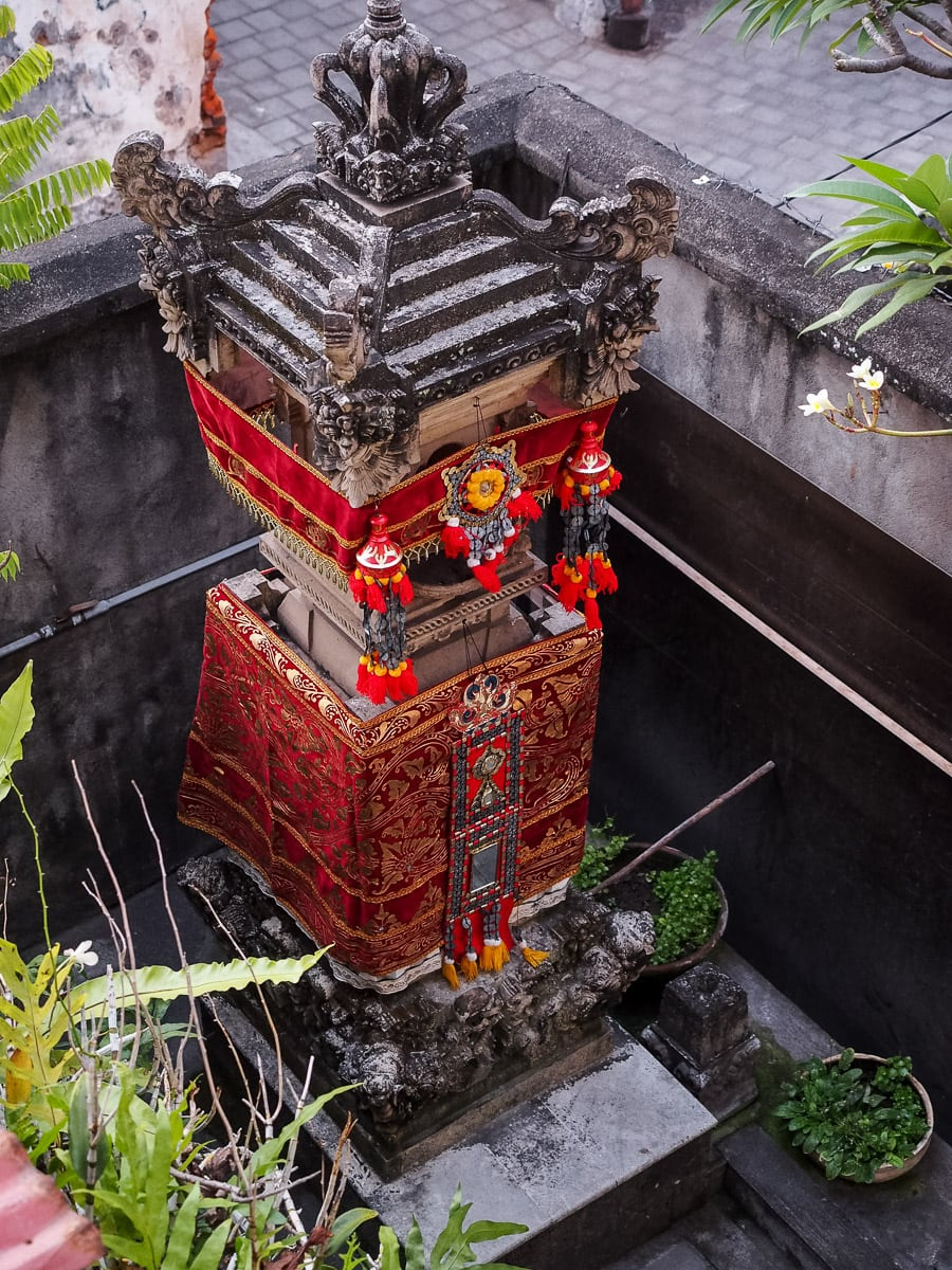 Shrine in the corner of a family compound in Denpasar