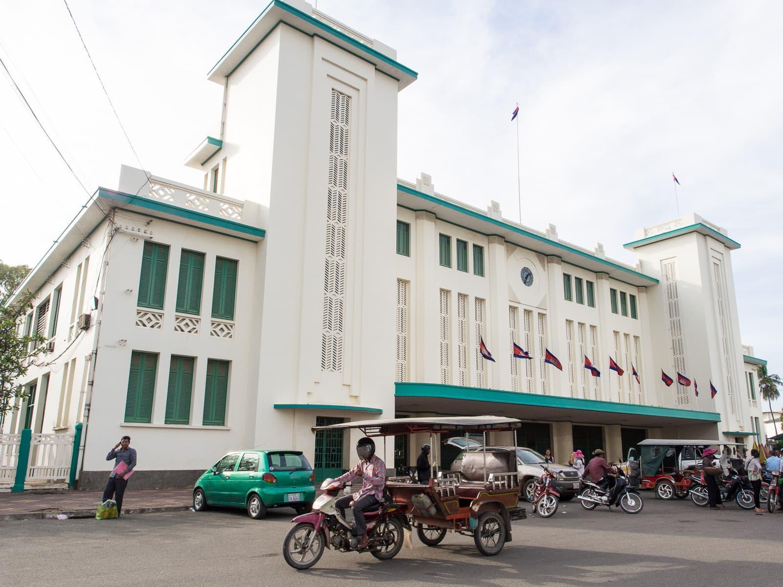 Art Deco train station in Phnom Penh